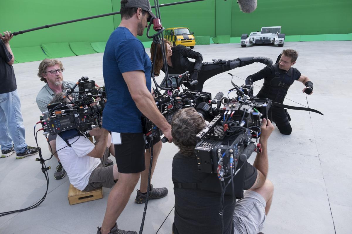 Leipzig Flughafen: Greenscreen Film Dreharbeiten