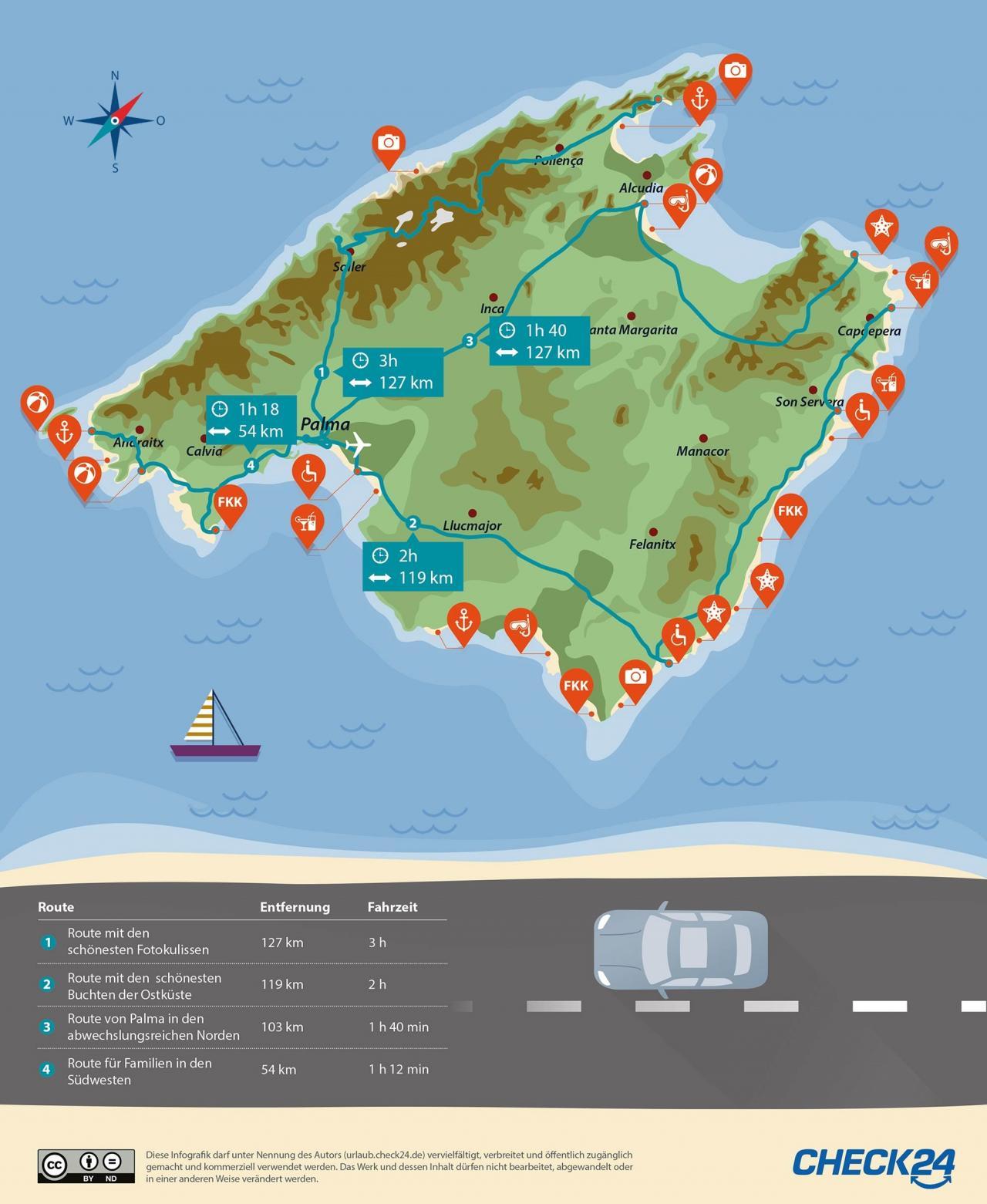mallorca strände karte Die 24 schönsten Strände auf Mallorca 🌴 | CHECK24 mallorca strände karte
