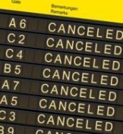 Anzeigetafel Flugstreichungen