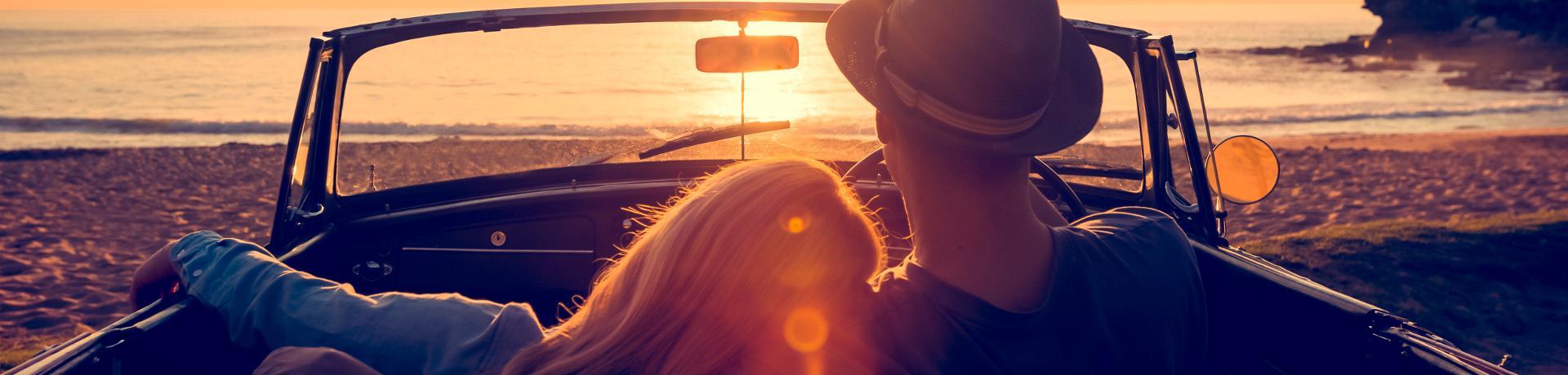 Road Trip: Cabrio - Sonnenuntrgang