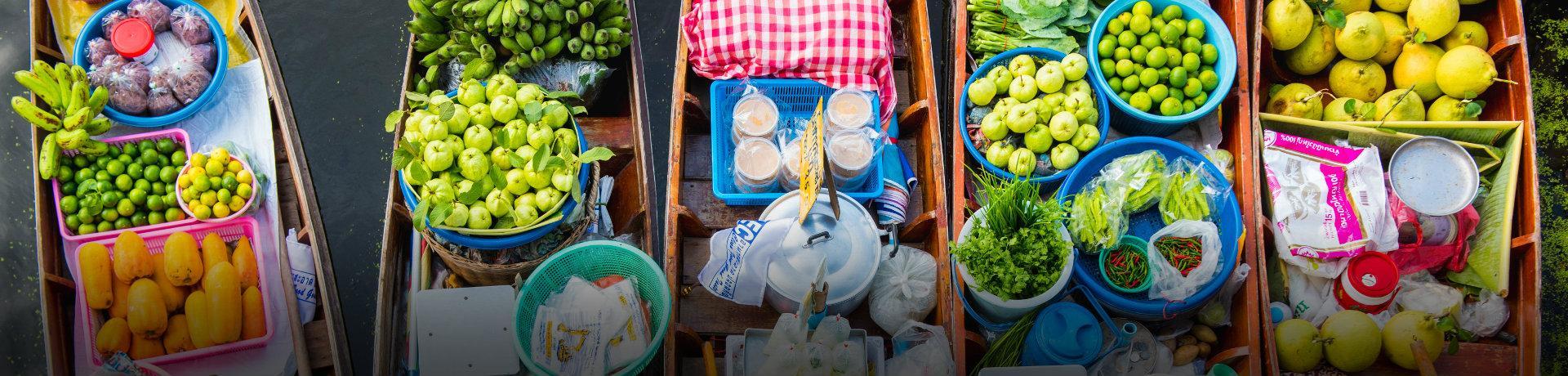 Gerichte Weltweit: Boote - Früchte