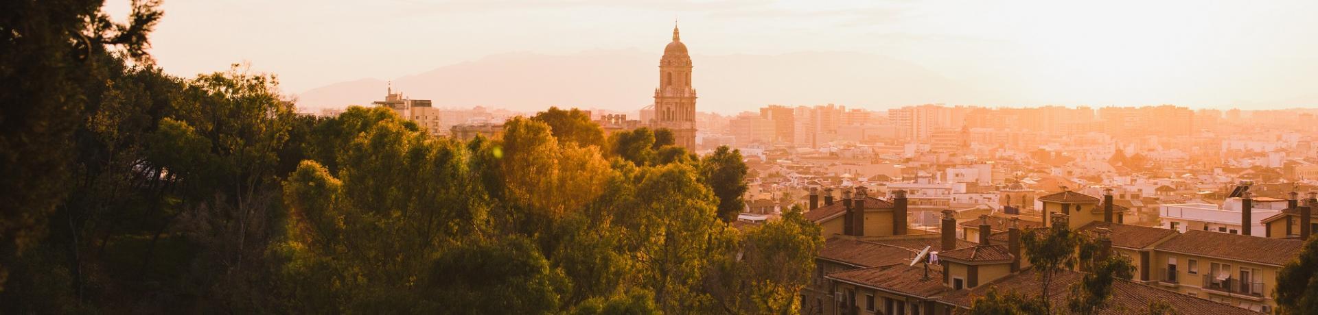 Spanien: Malaga Sonnenuntergang Emotion