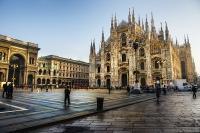 Historische Altstadt in Mailand.