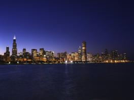 4473+USA+Chicago+Skyline_bei_Nacht+TS_92573524