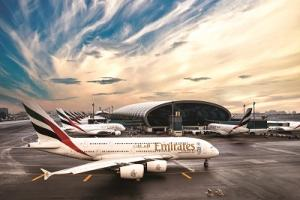 Emirates Jets am Dubai Airport