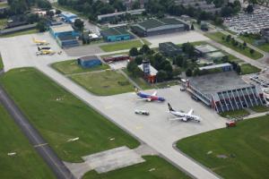 Flughafen Memmingen Luftaufnahme