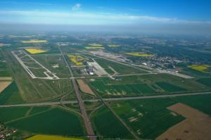 Flughafen Leipzig/Halle Luftaufnahme