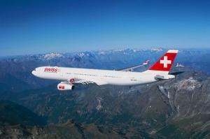 Airbus 340 von Swiss