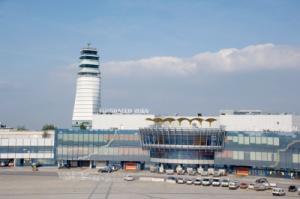 Blick auf den Flughafen in Wien