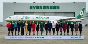 Eva Air Flugzeug und Crew