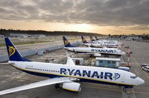 Geparkte Flugzeuge von Ryanair