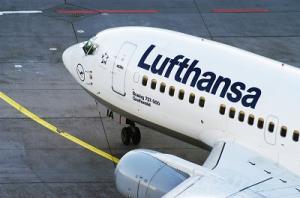 Bug eines Lufthansa-Flugzeugs