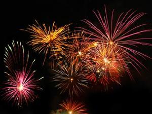 Feuerwerk zu Silvester.