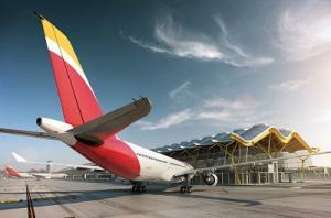 Airbus A330 von Iberia am Flughafen Madrid