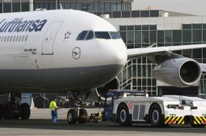 Lufthansa A340-300 in Frankfurt