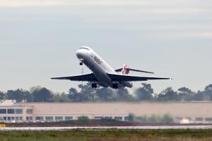 volotea Boeing 717 beim start