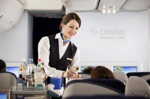 Condor Service an Bord