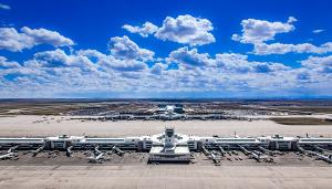 Flughafen Denver Luftaufnahme Rollfeld