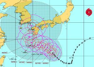 taifun norut japan südkorea