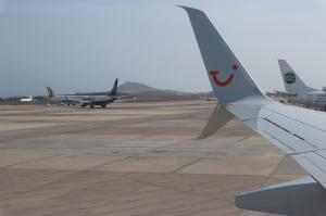 Tuifly Flügel Ryanair Germania Flughafen Gran Canaria