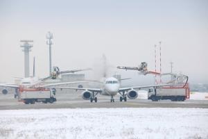 Flughafen Frankfurt Enteisung Flugzeug