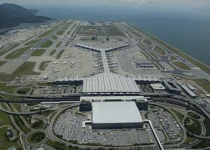 Hong Kong Airport Luftaufnahme