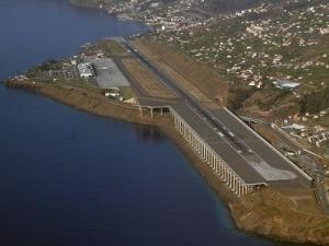 Flughafen Madeira Luftaufnahme