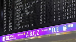 Sommerflugplan 2017 Anzeigetafel Frankfurt
