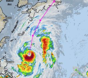 Taifun Lan Japan 2