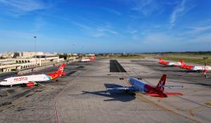 Air Malta Flugzeuge am Flughafen