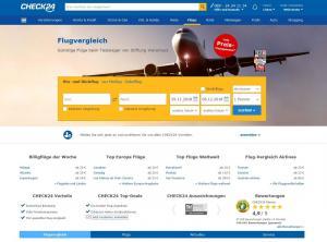 Flugvergleich Check24 Screenshot