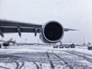 Flugzeug Flughafen Schnee New York