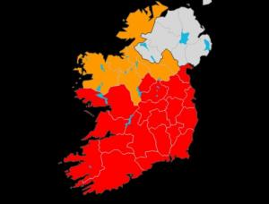 Sturm Emma Irland Warnstufe (Met Eireann)
