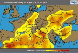 Gewitter Mallorca Europa Karte