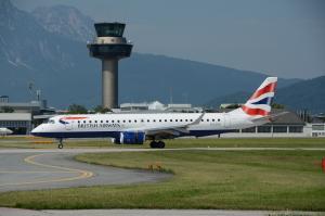 Flughafen Salzburg British Airways Embaer 190