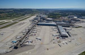 Flughafen Zürich Luftaufnahme