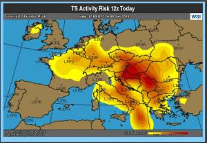 Eurocontrol-Gewitterrisiko-Europa