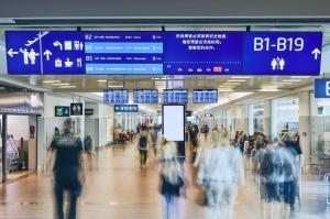 Flughafen Prag Schilder