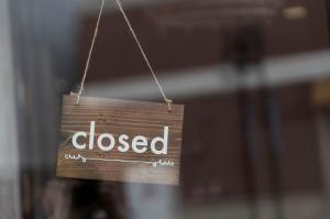 Schild, closed geschlossen