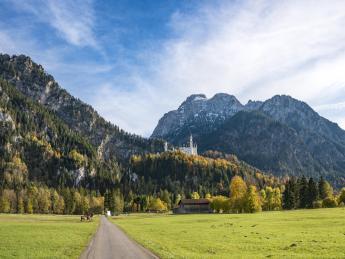 Neuschwanstein, Limes-Radweg - Schwangau