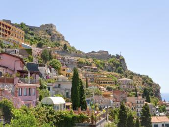 Monte Tauro mit Castello - Taormina