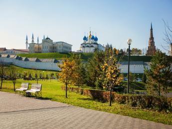 215628+Russland+Kasan+Kul-Scharif-Moschee,_Mariä-Verkündigungs-Kathedrale,_Sujumbike-Turm+GI-617654806