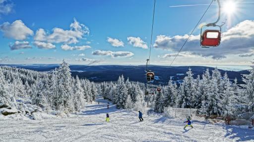 Seilbahn im Skigebiet Ochsenkopf