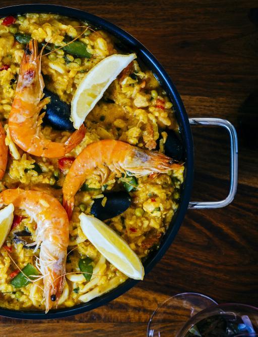 Spanien: Essen Paella Reis