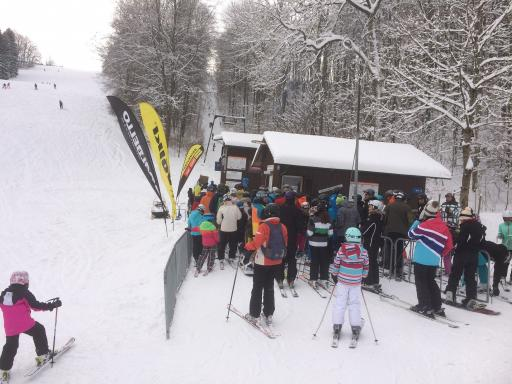 das Skigebiet Hirtenteich in der Schwäbischen Alb