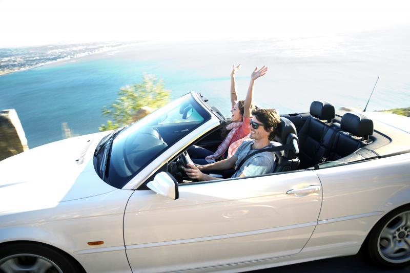 Mietwagen: Cabrio - Sitzen