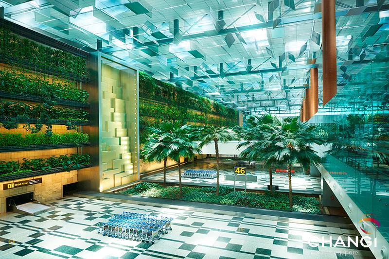 Reisen der Zukunft: Parkanlage - Flughafen Singapur - Terminal 3